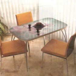 Стол обеденный стекло с фотопечатью 1100х700