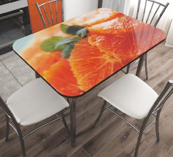 """Стол обеденный стекло """"Апельсин"""""""