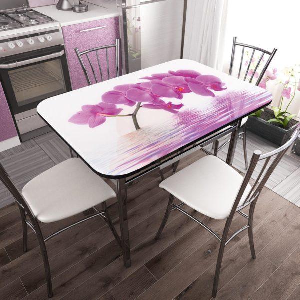 """Стол обеденный стекло """"Орхидея"""""""