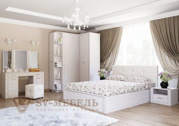 """Кровать двойная с мягким изголовьем 1,4х2,0м """"Гамма-20"""""""