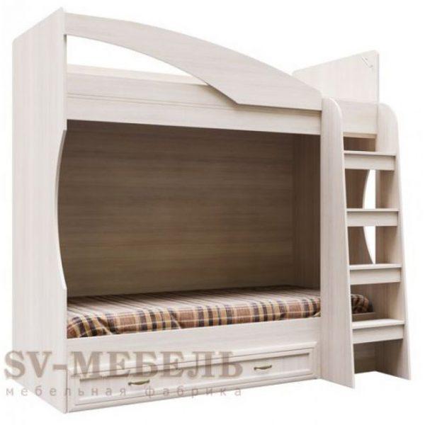 Кровать двухъярусная с ящиком ВЕГА ДМ-15