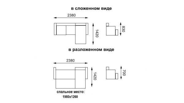 """Диван-кровать угловой """"София"""""""