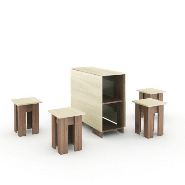 Стол-книжка+4 табурета (ПМ)