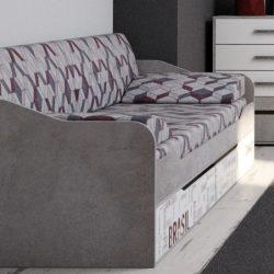 """Кровать-диван с ящиками (0,9*2,0)""""Грей"""" (СВ)"""