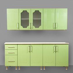 Кухня МДФ Зелёный Металлик 2,0 м (Сед)