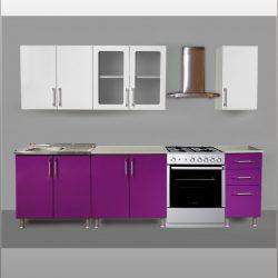 Кухня МДФ Виолетта 2,0 м (Сед)