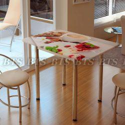 Стол обеденный с Фотопечатью ДЕСЕРТ (БТС)