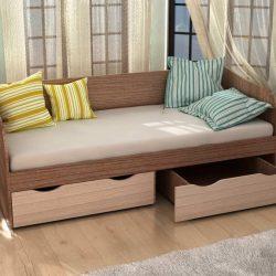 Кровать ГОРОД с 2 ящиками (Инт)