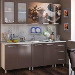 Кухня Люкс Шоколад 2,0м (БТС)