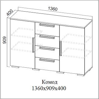 Комод ЛАГУНА-2 (СВ)