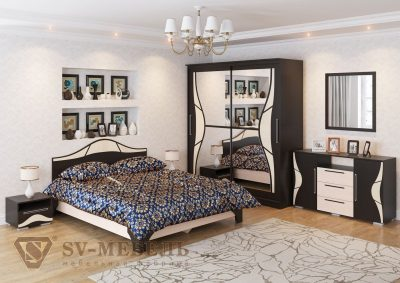 Кровать двойная ЛАГУНА-5 1600х2000