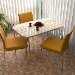 Стол обеденный на металлической опоре (Инт)