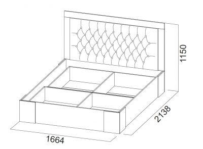 Кровать двойная унив. 1,6х2,0 ЛАГУНА-6 СВ