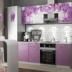 Кухня Дикая Орхидея 2,1м (ДСВ)