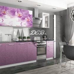Кухня Дикая Орхидея 2,0м (ДСВ)