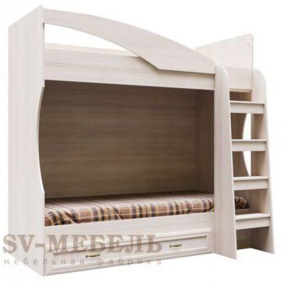Кровать двухъярусная с ящиком ВЕГА ДМ-16