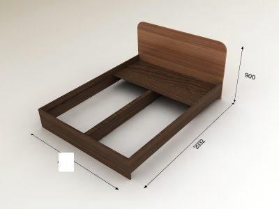 Кровать 1,2х2,0м (Инт)