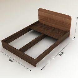 Кровать двухспальная 1,6х2,0м (Инт)