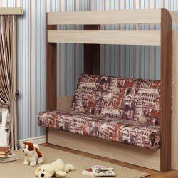 """Кровать-чердак с диван-кроватью """"Немо"""" без матраса (Ол)"""