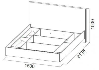 Кровать двойная №1 Абстракция 1,4х2,0м (СВ)