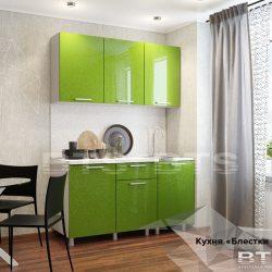 """Кухня """"Блёстки олива""""  1,5м (БТС)"""