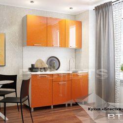 "Кухня ""Блёстки оранж""  1,5м (БТС)"