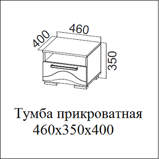 Тумба прикроватная ЛАГУНА-5 СВ
