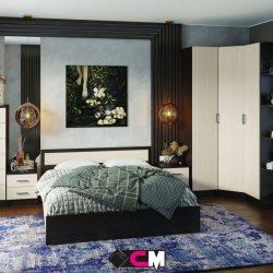 Модульная спальня Гармония ЛДСП (Ст)