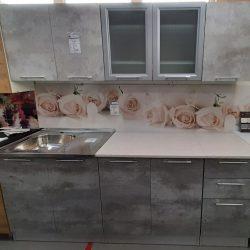 Кухня Эконом 2,0 Грей (Сед)